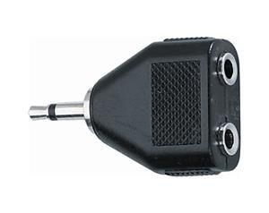 AD/267 Adattatore audio 2 Jack 3.5 mm mono femmina/Jack 3.5 mm mono