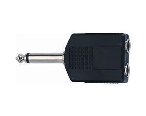 AD/72 Adattatore audio 2 Jack 6.3 mm mono femmina/Jack 6.3 mm mono