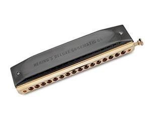 6264C CHROMATIC DELUXE BLACK/GOLD 64 ARMONICA