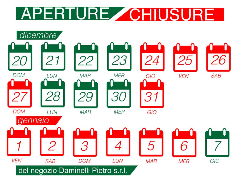 Aperture Straordinarie Daminelli Pietro s.r.l. 2020/2021