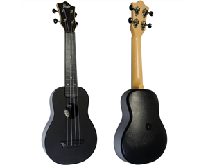 TUS35 ABS BLACK TRAVEL UKULELE