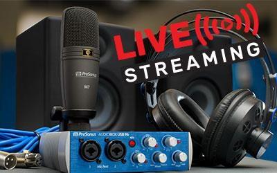 bundle presonus per il Live Streaming