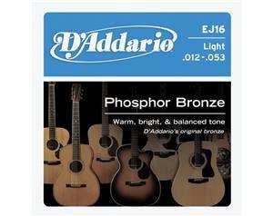 EJ16 LIGHT PHOSPHOR BRONZE ROUND 012/053