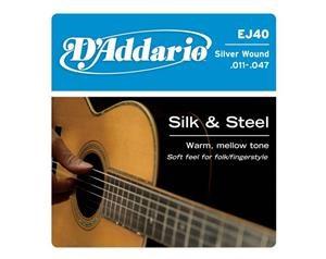 EJ40 SILK E STEEL SILVER WOUND 011/047