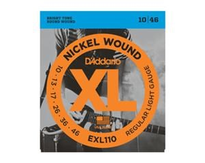 EXL110 REGULAR LIGHT NICKEL ROUND WOUND SET DI CORDE
