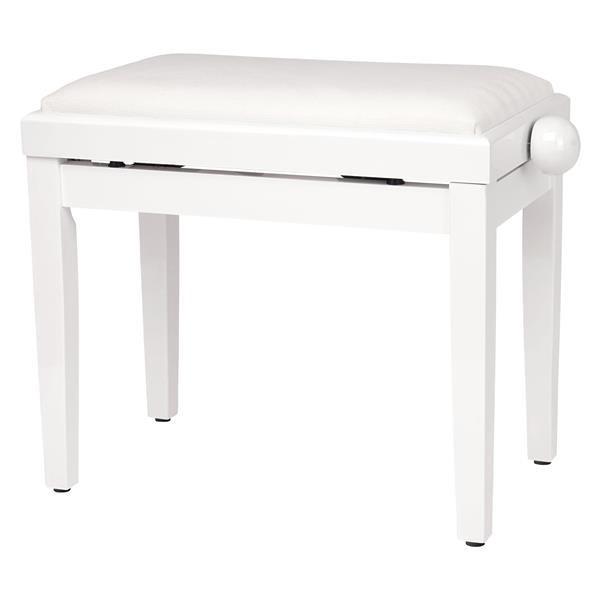 P01 PANCA BIANCO SATINATO PER PIANOFORTE