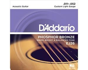 EJ26 CUSTOM LIGHT PHOSPHOR BRONZE 11/52 SET DI CORDE