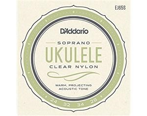 EJ65S 24/28 SET CORDE UKULELE CLEAR NYLON