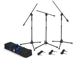 Bl3vp - Set 3 Aste Per Microfono - Giraffa - Ultraleggere - Treppiede