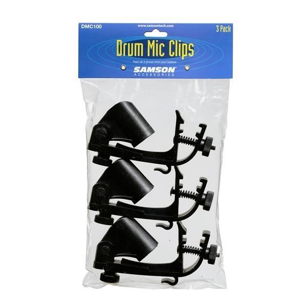 DMC100 - CLIP PER MICROFONO BATTERIA - 3 PEZZI