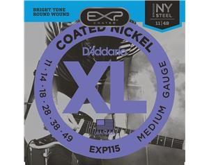 EXP115 COATED NICKEL MEDIUM GAUGE 11/49 SET CORDE