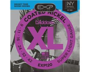 EXP120 COATED NICKEL SUPER LIGHT 09/42 SET CORDE