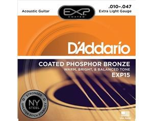 EXP15 COATED PHOSPHOR BRONZE EXTRA LIGHT 10/47 SET CORDE