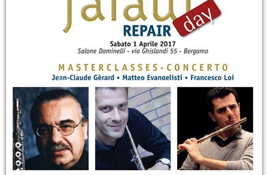 Sabato 1 aprile 2017 presso l'Auditorium Daminelli : Falaut Day/ Flute Repair Day / Concerto