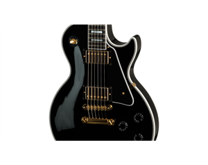 LES PAUL® CUSTOM EBONY GOLD HDW