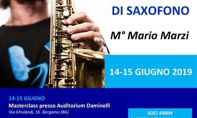 Masterclass di Sassofono Con Il Maestro Mario Marzi