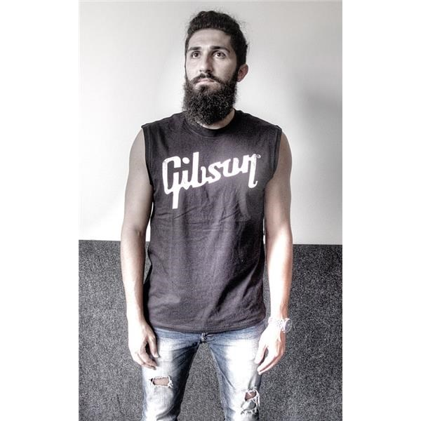 GA-BLMUXXL DISTRESSED LOGO MUSCLE T XXL