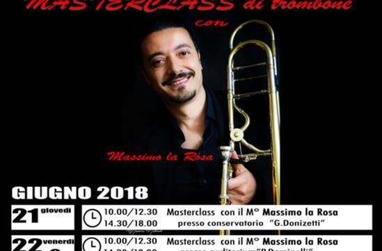 Masterclass di trombone con M. La Rosa