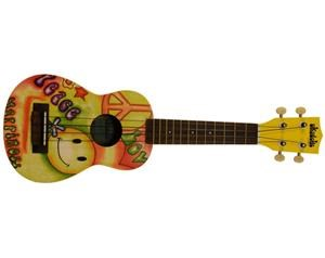 MK-S PEACE AND LOVE UKULELE SOPRANO UKADELIC