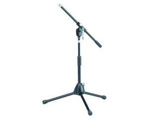 Ms205stbk - Asta Microfono Corta A Giraffa - 3 Piedi - Nera
