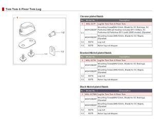 MSL-SCTBN - BLOCCHETTO PER TOM / TIMPANO / RULLANTE STARCLASSIC - NERO NICHELATO