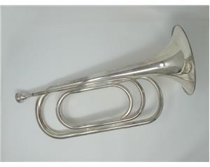 N4S BUGLE HORN SILVER PLATED