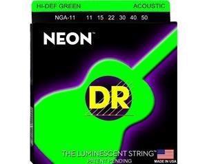 NGA11 11/50 NEON HI-DEF GREEN SET DI CORDE