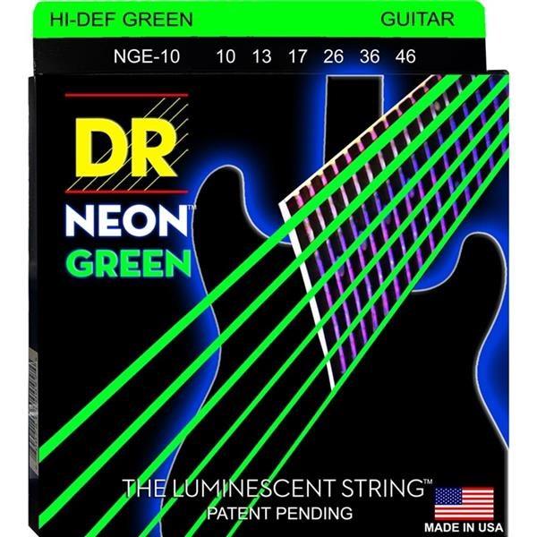 NGE-10 10/46 NEON HI-DEF GREEN SET DI CORDE