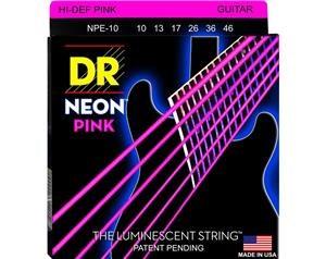 NPE10 10/46 NEON HI-DEF PINK SET DI CORDE