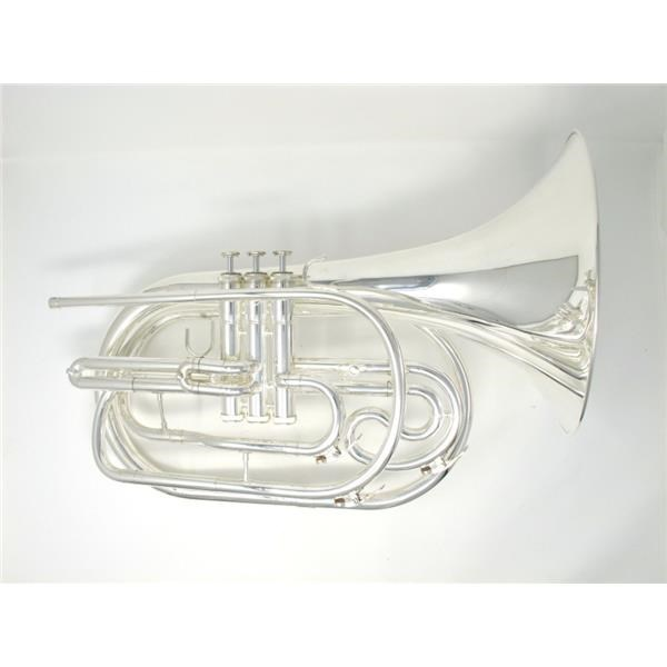 OP-MF-061S MARCHING FENCH HORN SILVER
