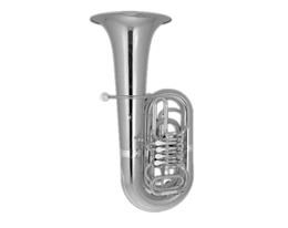 BB200S TUBA SILVER PLATED