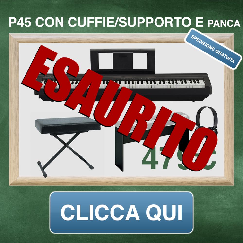 YAMAHA P45 CON SUPPORTO PANCA E CUFFIE