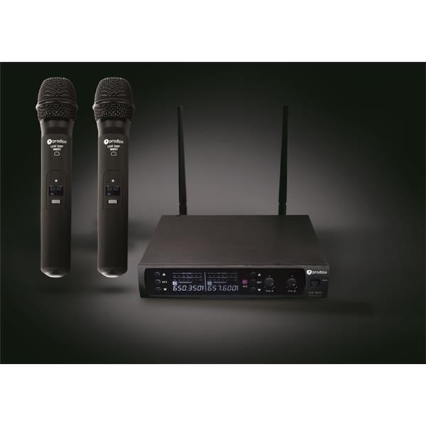 UHF M850 DSP LANEN DUO VOCAL 2 MICROFONI 100 CH
