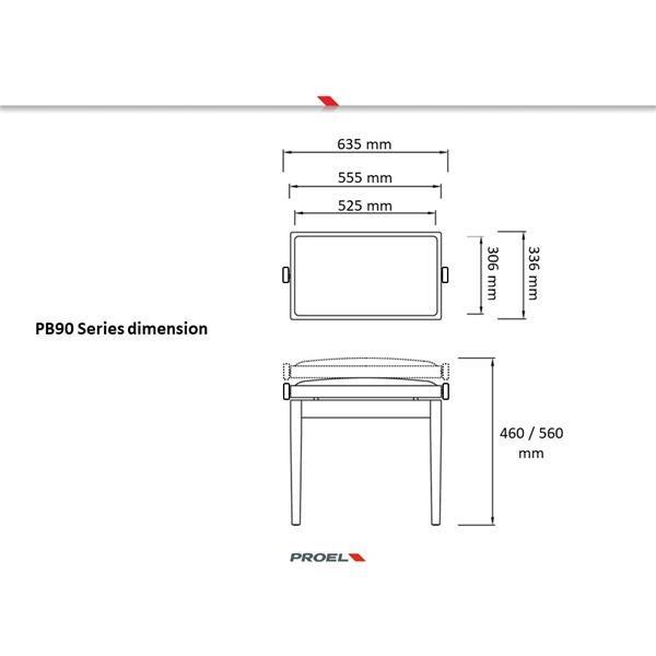 PB90SBBBK NERO LUCIDO PANCA PIANOFORTE