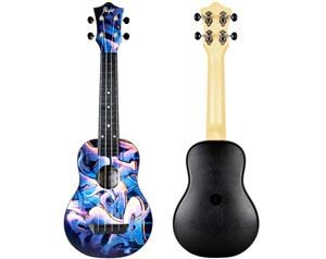 TUS40 ABS GRAFFITI TRAVEL SOPRANO UKULELE