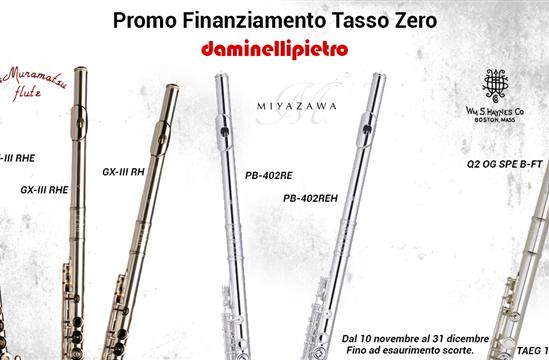 Promozione tasso zero sui flauti