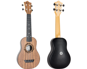 TUS50 ABS WALNUT TRAVEL SOPRANO UKULELE